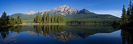 Isle Reflection Jasper National park Kanada